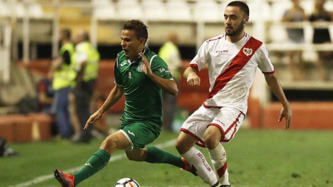 Un lance del partido entre Rayo y Leganés.
