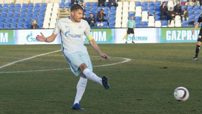 Javi García, con el Zenit