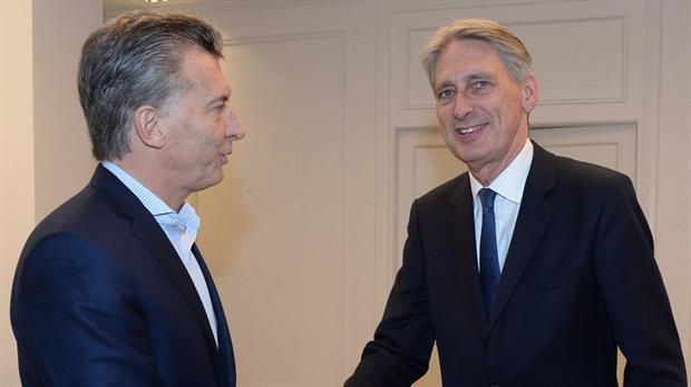 Mauricio Macri y Philip Hammond en Olivos