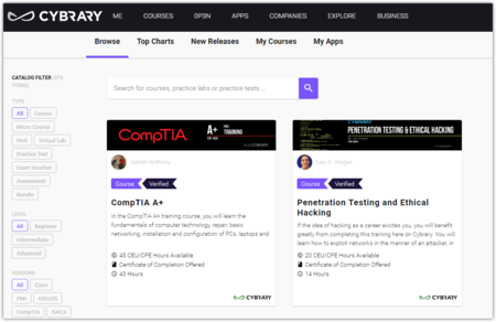 Cybrary S Free Cyber Security Learning Hands On Training Catalog