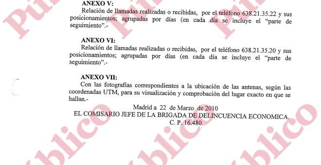 Final sin firma del informe final de la UDEF sobre los posicionamientos de los guardias acusados el espionaje en el PP de Madrid.