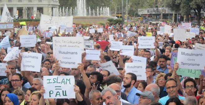 En la manifestación reclaman que 'son musulmanes, no terroristas' / EUROPA PRESS