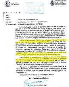 Oficio del Comisario General de Seguridad Ciudadana de 20/12/2016.