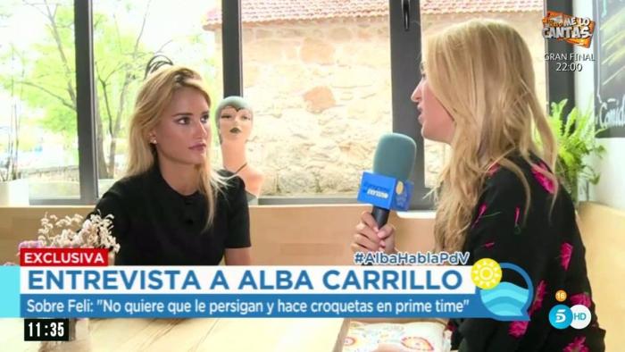 Alba Carrillo carga contra Feliciano y Fonsi y ensalza a su nuevo novio