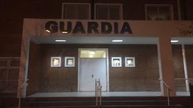 La guardia del hospital Interzonal de Ezeiza, donde se encuentra internado Miguel Etchecolatz