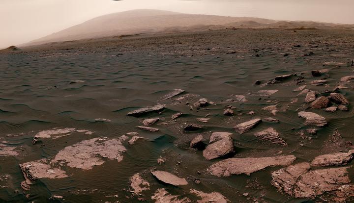 Dunas en el cráter Gale, Marte.