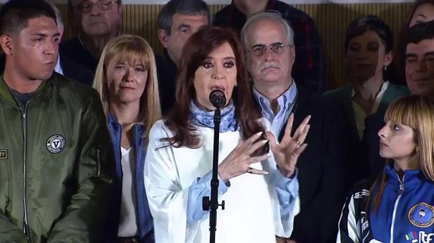 Cristina durante su cierre de campa?a antes de las PASO del domingo
