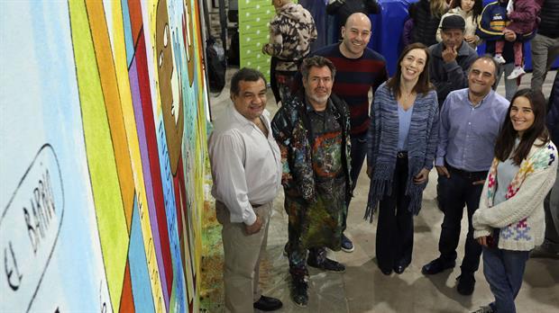 Juana Viale y Milo Lockett, en un acto con Vidal en Quilmes