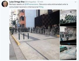La fiscal general de Venezuela denuncia el