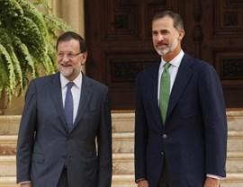 Rajoy llega a Palma para reunirse con el Rey con más de dos horas de retraso, tras sufrir un ataque de lumbago