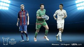 Ronaldo, Messi y Buffon, finalistas a Mejor Jugador del Año de la UEFA