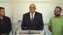 JxSí y la CUP registran la ley de transitoriedad tras presentarla en el Parlament