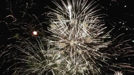 Fuegos artificiales de este 2017 en San Lorenzo