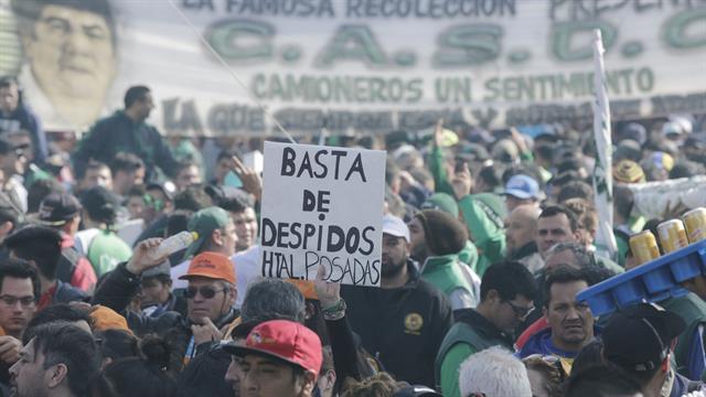 La CGT realizó una marcha hoy en Plaza de Mayo