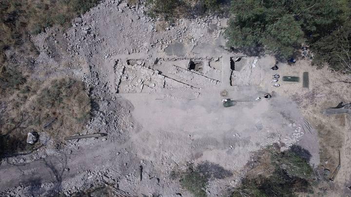 Foto aérea de la excavación arqueológica de lo que se cree es Julias, hogar de tres apóstoles de Jesús. Crédito: Zachary Wong.