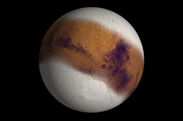 Así habría lucido Marte durante una Era del Hielo, hace 400.000 años.