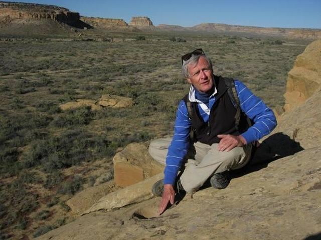 Kim Malville en el Cañón del Chaco (Nuevo México, EE.UU.) / www.colorado.edu.