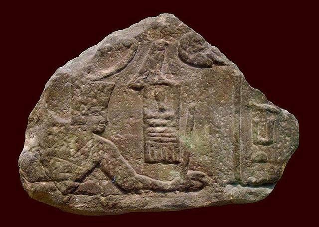 Imagen de Sanajt esculpida en Uadi Maghara, península del Sinaí. Su nombre significa 'el fuerte protector'.