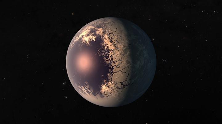 Es probable que los siete planetas (tres de ellos en la zona habitable) estén bloqueados por su estrella, cada uno con un lado perpetuo de día y noche.