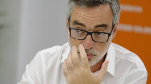 José Manuel Villegas, durante su entrevista con ABC