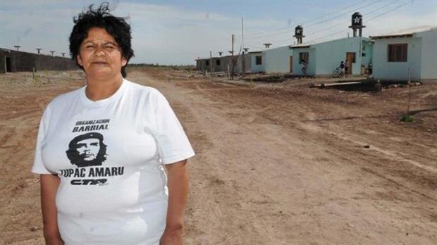 Nélida Rojas era la líder de la agrupación Tupac Amaru en Mendoza