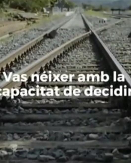 'Spot' de televisión que anima a los catalanes a ejercer su 'derecho a decidir' a las puertas del referéndum del 1 de octubre.