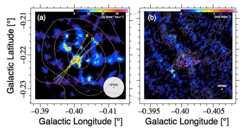 Observaciones telescópicas de la fuente brillante en CO-0.40-0.22.