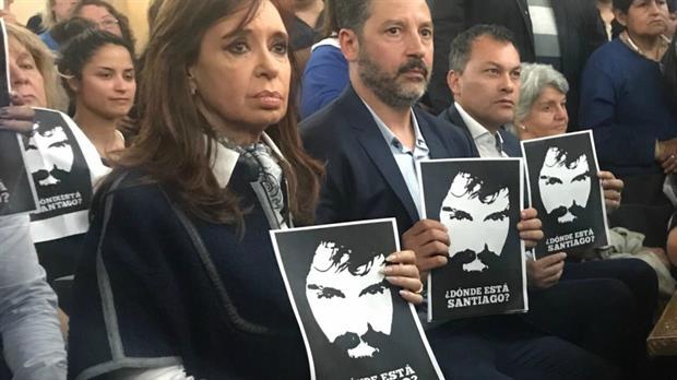 Cristina Kirchner participó de una misa por la aparición con vida de Santiago Maldonado