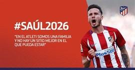 Saúl renueva con el Atlético hasta 2026