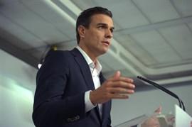 Pedro Sánchez propone distender en el Parlamento la crisis catalana antes del 1 de octubre