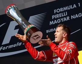 Vettel, más líder del mundial tras vencer en Hungaroring y Alonso termina sexto