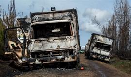 Los camioneros de Chile entregan una petición para evitar nuevos ataques incendiarios