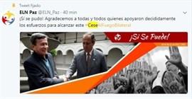 Gobierno colombiano y ELN alcanzan un acuerdo para un alto el fuego bilateral de cuatro meses