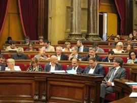 JxSí y CUP piden cambiar el orden del día para aprobar la ley del referéndum este miércoles