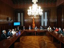 1-O.- El Govern de la Generalitat en pleno firma la convocatoria del referéndum