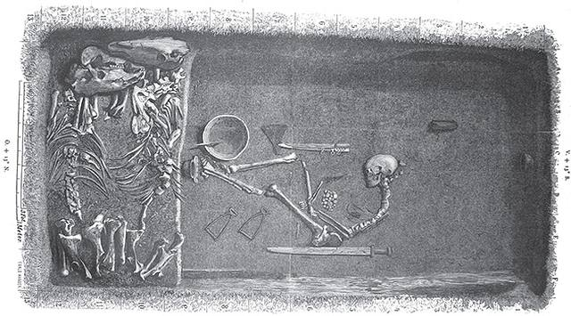 Los restos fueron excavados por primera vez en la década de los 1880s.