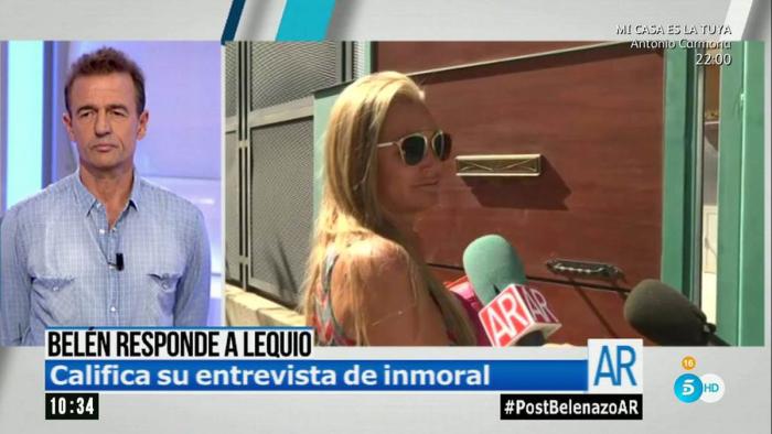 Alessandro Lequio califica de inmoral la última intervención de Belén Esteban