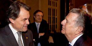 Artur Mas con el conde de Godó, presidente de La Vanguardia