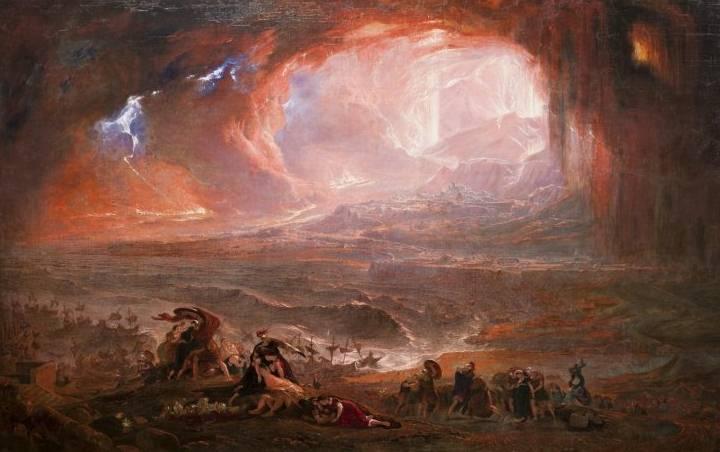'La destrucción de Pompeya y Herculano', John Martin, 1822.