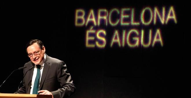 Ángel Simón presidente de Aguas de Barcelona, en la celebración del Día del Agua el año pasado. ANTONIO MORENO