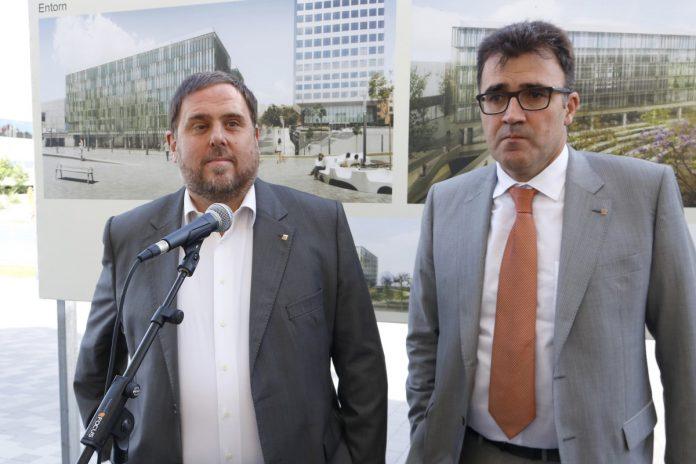 Oriol Junqueras junto a al conseller de Hisenda