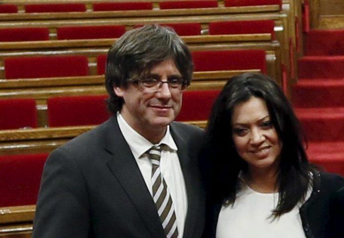 Marcela Topor y Carles Puigdemont