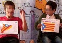Niños aleccionados en el nacionalismo catalán