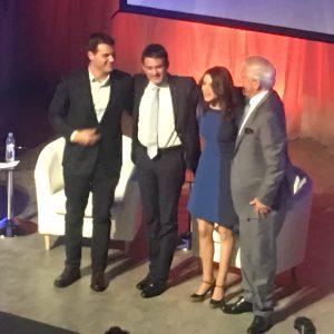 Albert Rivera, Manuel Valls, Inés Arrimadas y Mario Vargas Llosa han participado en un coloquio debate sobre Europa y los nacionalismos