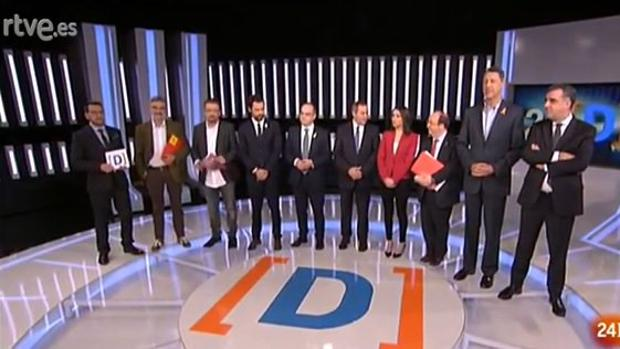 Participantes en el debate sobre las elecciones catalanas