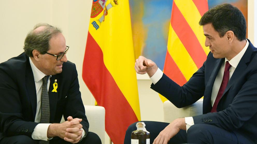 Quim Torra pidió a Sánchez la destitución de Morenés
